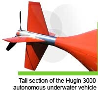 Tail section of the HUGIN 3000 autonomous underwater vehicle