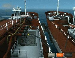 Starboard CCTV camera showing loading from one LPG tanker to another