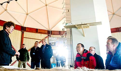 UN Secretary General visits Kongsberg Satellite Services