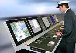 K-Bridge illustration photo. Consoles are similar to the QuatarGas  delivery.  The QuatarGas  delivery includes bridge, cargo, integrated automation systems and integrated navigation systems.
