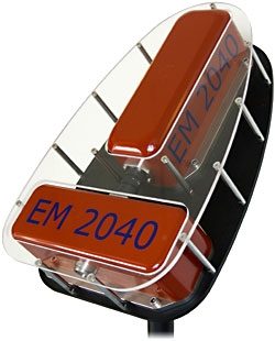 EM 2040 multibeam echo sounder transducer