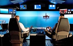 Offshore vessel simulator bridge