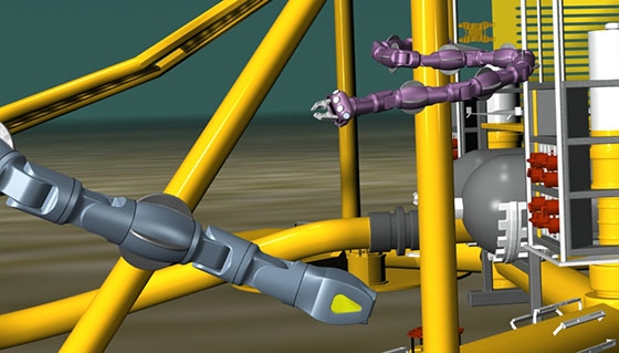 Robots taking care of subsea installation
