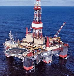 Scarabeo 5 semi-submersible drilling rig
