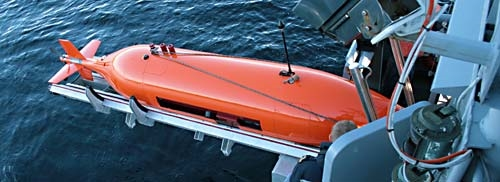 The Hugin 1000 MR Autonomous underwater vehicle