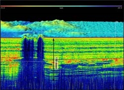 Survey resuts from the EM 122 multibeam echo sounder. Click to view larger image.