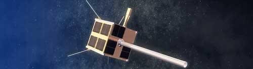 The satellite as it will appear in space