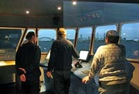 Ship's Bridge Simulator at the Bulgarian Maritime Training Centre (BMTC) in Varna, Bulgaria