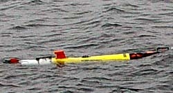 The AUV at start of mission
