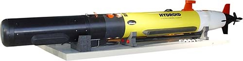 Remus 100 AUV configured with the GeoSwath Plus mapping sonar