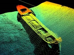 Typical EM710 multibeam echosounder result - Click to view larger image