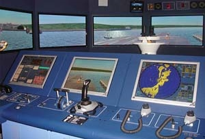 Polaris ships bridge simulator similar to the one delivered to Pearl Harbor