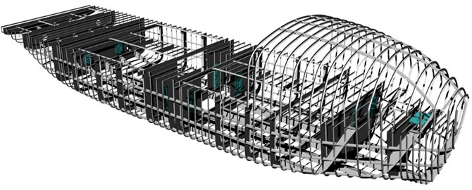 Autonomous ship Hrönn  internal structure