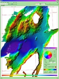 Typical survey result from the EM 122 multibeam echo sounder