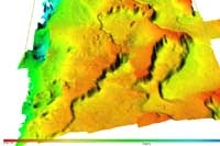 Typical EM 710S multibeam echosounder survey results
