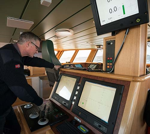 DP system onboard the R/V Gunnerius