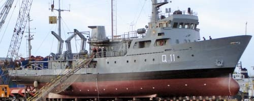 One of the two Argentine Navy owned and operated Hydrographic vessels