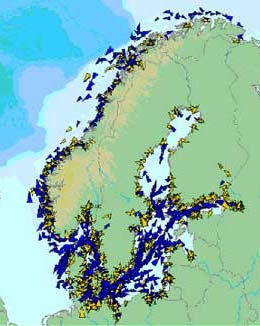 AIS provides an overview of ocean traffic. Credit: Norwegian Coastal Administration