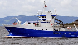 The demonstration took place on a research vessel owned by the Norwegian University of Science and Technology.